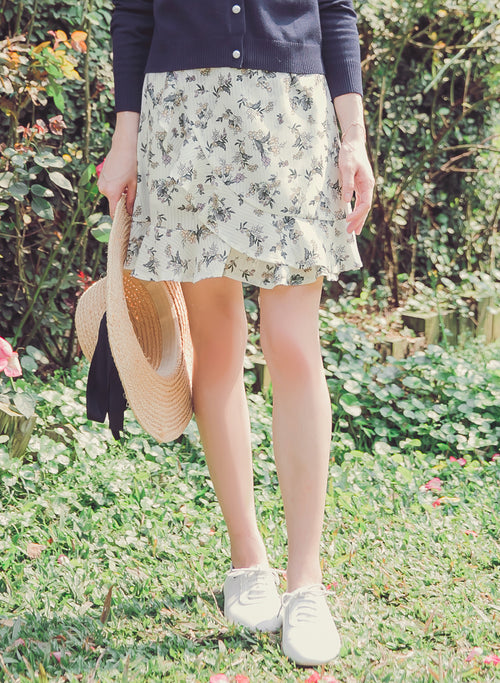 YOCO - Frilled Floral Skirt
