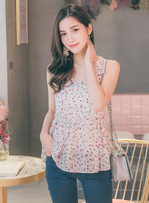 YOCO - Frilled Floral Top