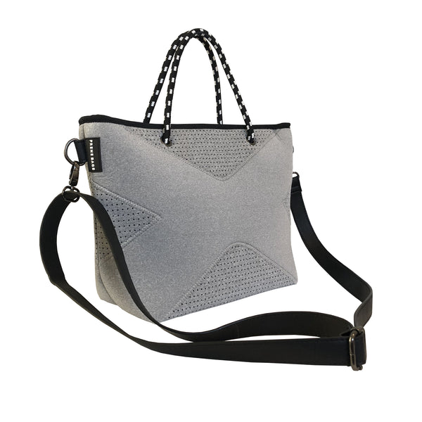 Prene Bags - THE XS BAG (Grey Marle) NEOPRENE CROSSBODY / TOTE BAG