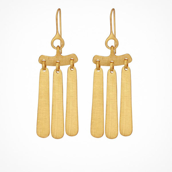 Temple of the Sun - Aku Earrings Gold
