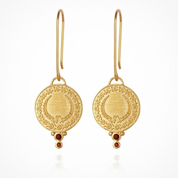 Temple of the Sun - Ariana Earrings Gold