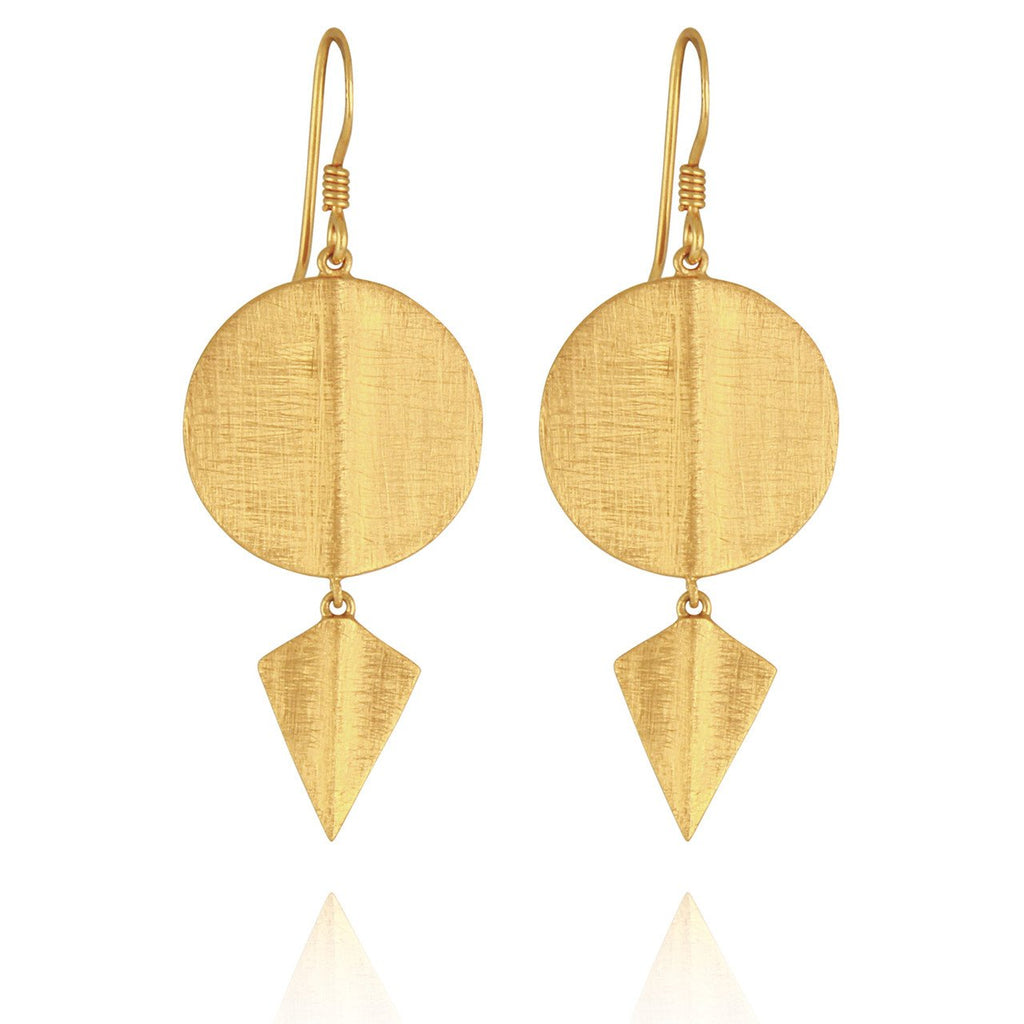 Temple of the Sun - Aegean Disc Earrings Gold