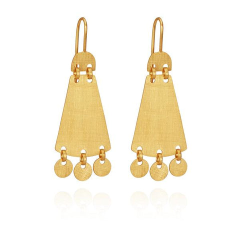 Temple of the Sun - Cybelle Earrings Gold