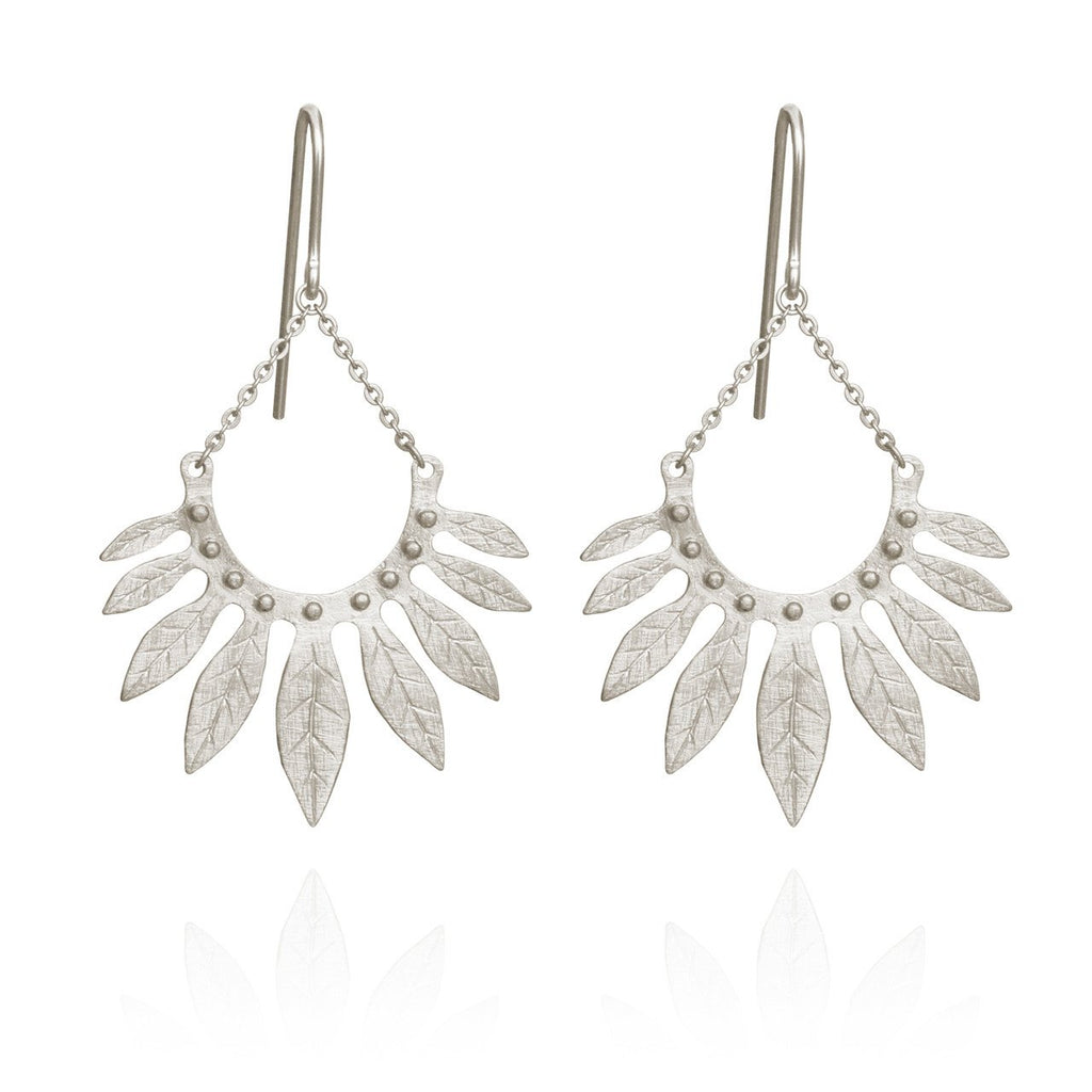 Temple of the Sun - Carissa Earrings Silver