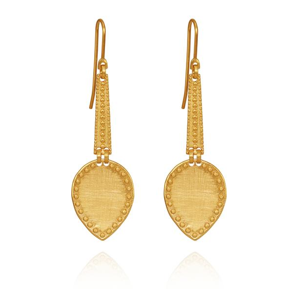 Temple of the Sun - Kara Earrings Gold