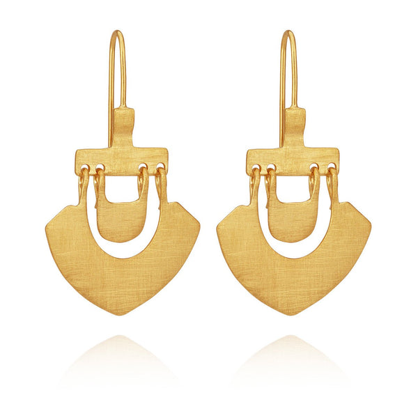 Temple of the Sun - Lilu Earrings Gold