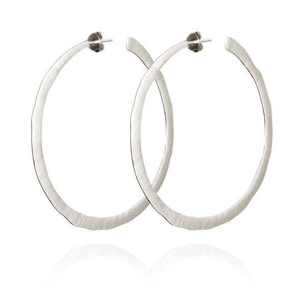 Temple of the Sun - LARGE HOOP EARRINGS SILVER