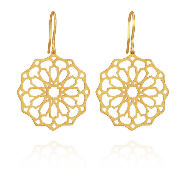 Temple of the Sun - Persian Star Earring Gold