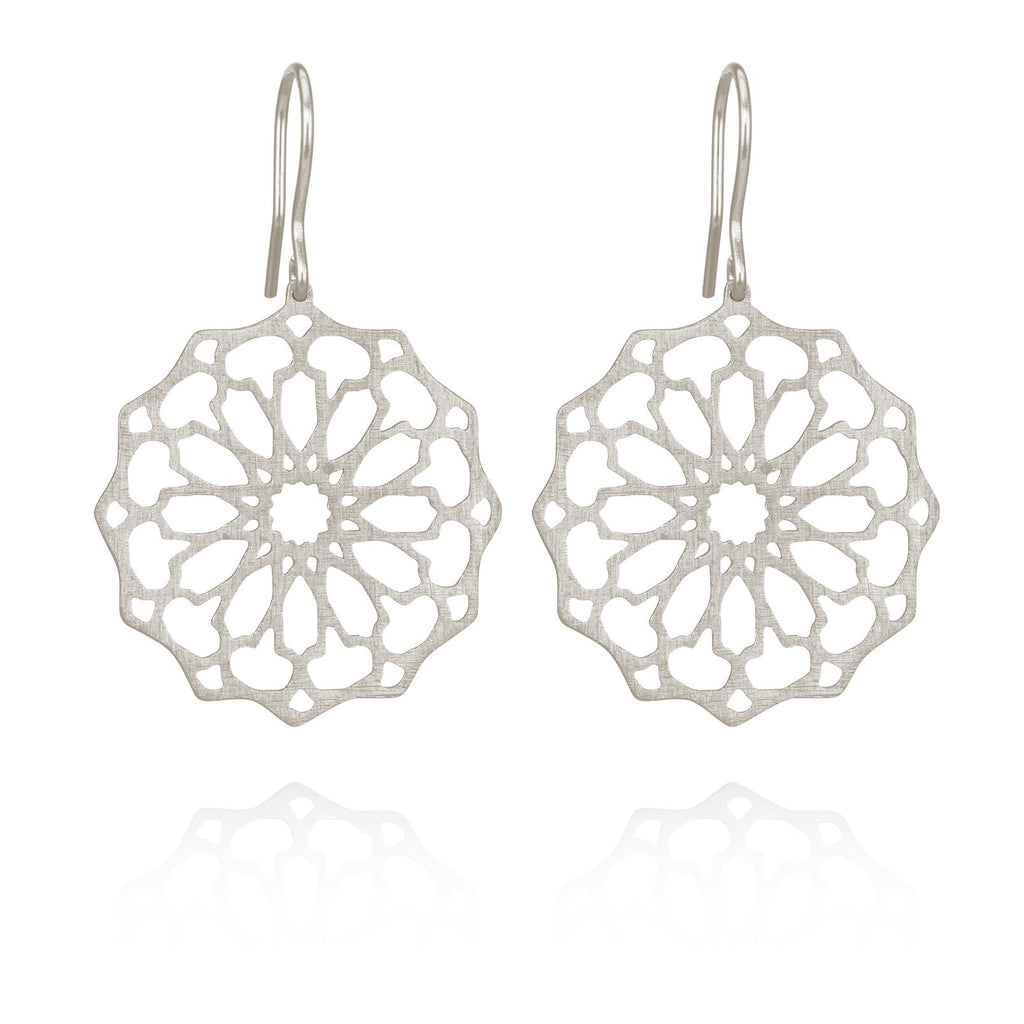 Temple of the Sun - Persian Star Earring Silver