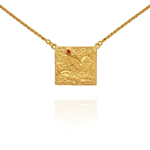 Temple of the Sun - PHEONIX NECKLACE GOLD