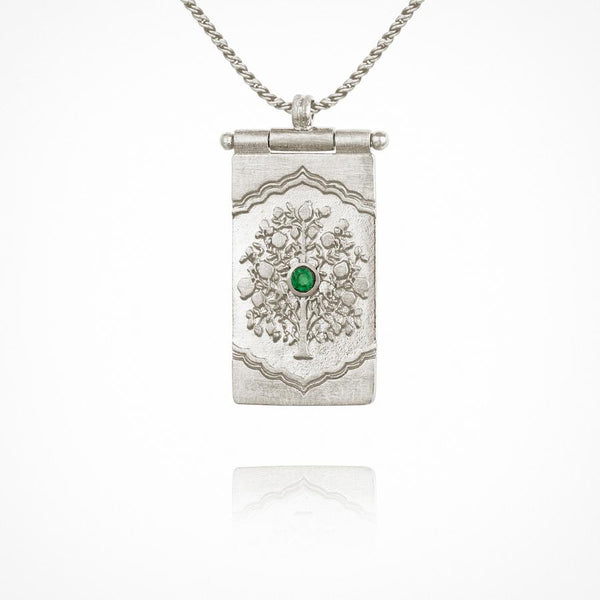 Temple of the Sun - Tree Of Like Necklace Silver