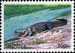 Tanzania Safari Circuits - Crocodile - Philately Tanzania stamps