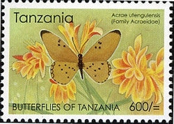 Butterflies of Tanzania - Acrae utengulensis - Philately Tanzania stamps