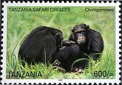 Tanzania Safari Circuits - Chimpanzee - Philately Tanzania stamps