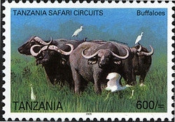 Tanzania Safari Circuits - Buffalo - Philately Tanzania stamps