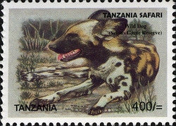 Tanzania Safari - Wild Dog - Philately Tanzania stamps