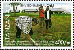 Environmental Care - Tree planting - Philately Tanzania stamps