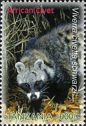 Species of Zanzibar - Preserve - African Civet - Philately Tanzania stamps