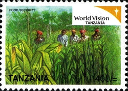 World vision Tanzania Series IV - Food Security - Philately Tanzania stamps