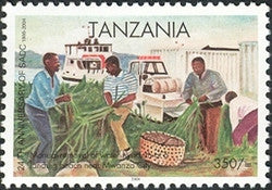 24th Anniversary of SADC - Manual removal of water hyacinths - Philately Tanzania stamps