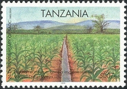 24th Anniversary of SADC - Irrigation of maize - Philately Tanzania stamps