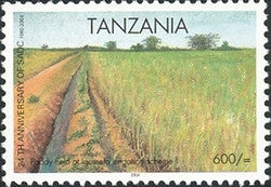 24th Anniversary of SADC - Paddy fields at Igomelo irrigation scheme - Philately Tanzania stamps