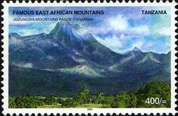 Famous East African Mountains - Udzungwa Mountain Range - Philately Tanzania stamps