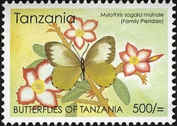 Butterflies of Tanzania - Mylothris sagala mahale - Philately Tanzania stamps