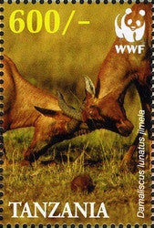 WWF - Damaliscus lunatus jimela - Philately Tanzania stamps