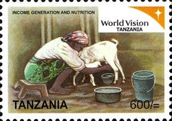World vision Tanzania Series IV - Income Generation and Nutrition - Philately Tanzania stamps