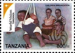 World vision Tanzania Series IV - Children Immunization - Philately Tanzania stamps