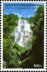 Famous East African Mountains - Sanje Falls - The Udzungwa Mountains - Philately Tanzania stamps
