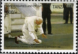 Anniversaries & Events - In Memoriam Pope John Paul II - Philately Tanzania stamps