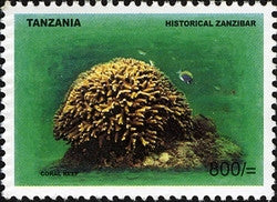 Historical Zanzibar - Coral Reef - Philately Tanzania stamps