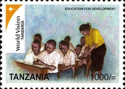 World vision Tanzania Series IV - Education for Development - Philately Tanzania stamps