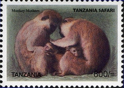 Tanzania Safari - Monkey Mothers - Philately Tanzania stamps
