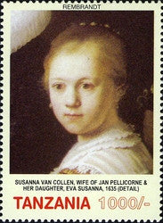 400th Anniversary of birth of Rembrandt Harmensz van Rijn - Philately Tanzania stamps