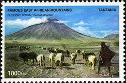 Famous East African Mountains - Ol Doinyo Lengai, The God Mountains - Philately Tanzania stamps