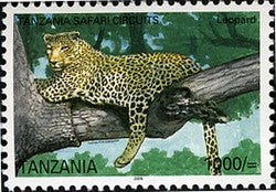 Tanzania Safari Circuits - Leopard - Philately Tanzania stamps