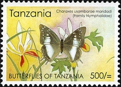 Butterflies of Tanzania - Charaxes usambarae maridadi - Philately Tanzania stamps