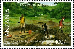 Environmental Care - Illegal Mining - Philately Tanzania stamps