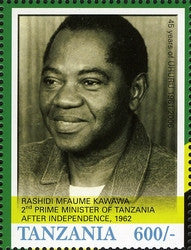 45th Anniversary of Tanzania Independence (1961-2006) - Rashidi Mfaume Kawawa - Philately Tanzania stamps