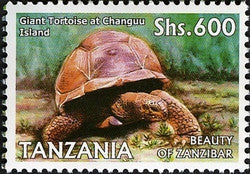 Beauty of Zanzibar - Giant Tortoise at Changuu Island - Philately Tanzania stamps