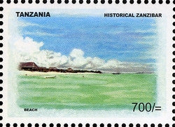Historical Zanzibar - Beach - Philately Tanzania stamps