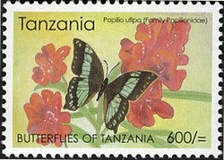 Butterflies of Tanzania - Papilio ufipa - Philately Tanzania stamps