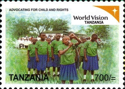 World vision Tanzania Series IV - Advocating for Child and Rights - Philately Tanzania stamps