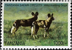 Tanzania Safari Circuits - Lycaons - Philately Tanzania stamps
