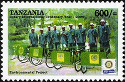100th Anniversary of Rotary International - Environmental Projects - Philately Tanzania stamps