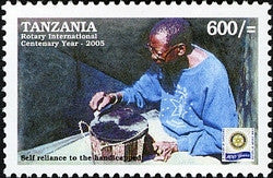 100th Anniversary of Rotary International - Self reliance for the Handicapped - Philately Tanzania stamps