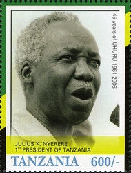 45th Anniversary of Tanzania Independence (1961-2006) - Julius K. Nyerere - Philately Tanzania stamps